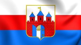 Flag of Bydgoszcz, Poland. Royalty Free Stock Image