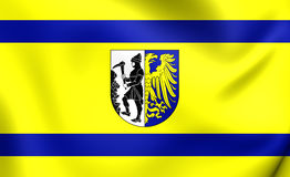 Flag of Bytom City, Poland. Royalty Free Stock Photography