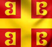 Flag of the Byzantine Empire Royalty Free Stock Image