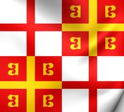 Flag of Byzantine Empire. Close Up Royalty Free Stock Photo