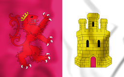 Flag of Caceres Province, Spain. 3D Illustration. 3D Flag of Caceres Province, Spain. 3D Illustration Royalty Free Stock Photos