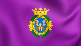 Flag of Cadiz City, Spain. Royalty Free Stock Image