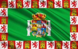 Flag of Cadiz - the southernmost province of Spain vector illustration