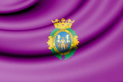 Flag of Cadiz, Spain. Royalty Free Stock Photography