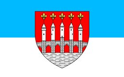 Flag of Cahors, France. Flag of Cahors is the capital of the Lot department in south-western France royalty free illustration