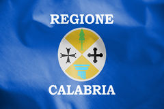 Flag of Calabria, Italy. Stock Images