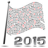2015 Flag Calendar Stock Image