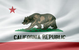 Flag of California. Very large version of a californian flag Royalty Free Stock Photo