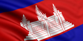 Flag Of Cambodia Royalty Free Stock Images