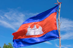 The flag of Cambodia Stock Images