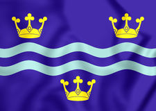 Flag of Cambridgeshire, England. Royalty Free Stock Image