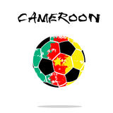 Flag of Cameroon as an abstract soccer ball. Abstract soccer ball painted in the colors of the Cameroon flag. Vector illustration vector illustration