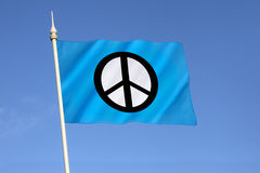 Flag of the Campaign for Nuclear Disarmament  - CND Royalty Free Stock Photo