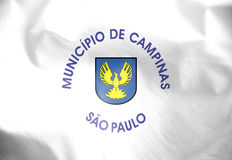 Flag of Campinas, Brazil. Stock Images