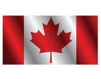 Flag of Canada. On a white background Royalty Free Stock Images