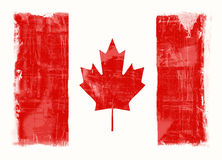 Flag of Canada. Computer designed highly detailed grunge textured illustration - Flag of Canada Royalty Free Stock Image