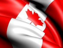 Flag of Canada. Close Up. 3D Stock Photos