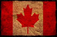 Flag of Canada. Grunge background edit Royalty Free Stock Photography