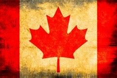 Flag of Canada. Grunge background edit Royalty Free Stock Photos