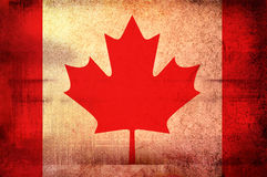 Flag of Canada. Grunge background edit Royalty Free Stock Images