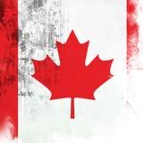 Flag of Canada. Grunge background edit Stock Images