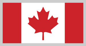 Flag of Canada royalty free illustration