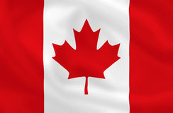 Flag of Canada. Canadian waving flag (can be background Royalty Free Stock Image