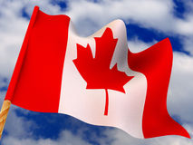 Flag. Canada. 3d Very beautiful three-dimensional illustration, figure Stock Images
