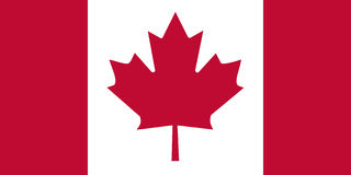 Flag of Canada stock illustration