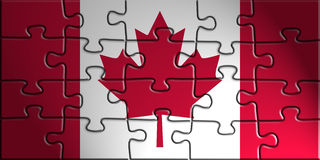 Flag of Canada. National country symbol illustration Royalty Free Stock Photography
