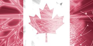 Flag of Canada christmas holidays Stock Image