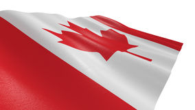 Flag of canada. Close-up view of the flag of canada on white background 3d render Royalty Free Stock Image