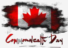 Flag of Canada for Commonwealth Day Royalty Free Stock Photo