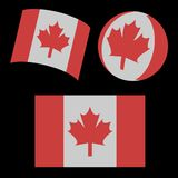 Flag of Canada 3d. Vector illustration Royalty Free Stock Photo
