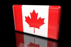 Flag of Canada 3D volumetric vector illustration