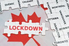 The flag of Canada features city name jigsaw puzzles and jigsaw puzzles with the words - lockdown