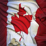 Flag of Canada, fluttering Stock Images