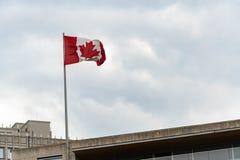 Canadian flag stock image