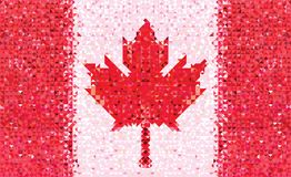 Flag Canada geometric pattern Royalty Free Stock Image