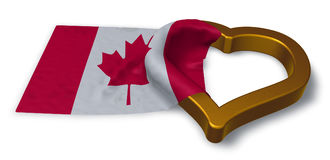 Flag of canada and heart symbol Royalty Free Stock Photography