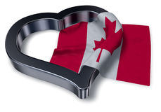 Flag of canada and heart symbol Stock Image