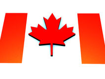 Flag of Canada, illustration by day of Canada. royalty free illustration