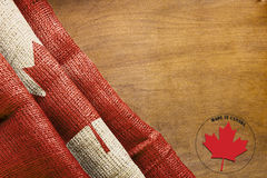 Flag of Canada and label Made in Canada Stock Photo