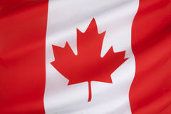 Flag of Canada. The national flag of Canada, also known as the Maple Leaf. The flag made its first official appearance on February 15, 1965; the date is now Stock Images