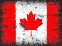 Flag of Canada painted on old wall Royalty Free Stock Photos
