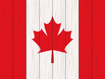 Flag of Canada. Painted on a wooden wall Royalty Free Stock Images