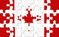 Flag of Canada puzzle Stock Photography