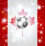 Canada soccer flag Stock Photography