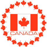 Flag of Canada. Canada flag on a triangle background. Design. Vector illustration Royalty Free Stock Photo