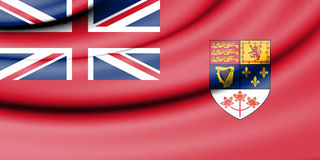 Flag of Canadian Red Ensign 1957-1965. Stock Photo